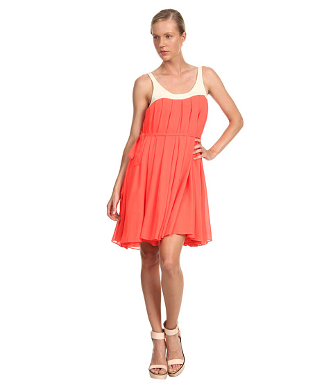 McQ - Cropped Waterfall Dress (Neon Orange) Women