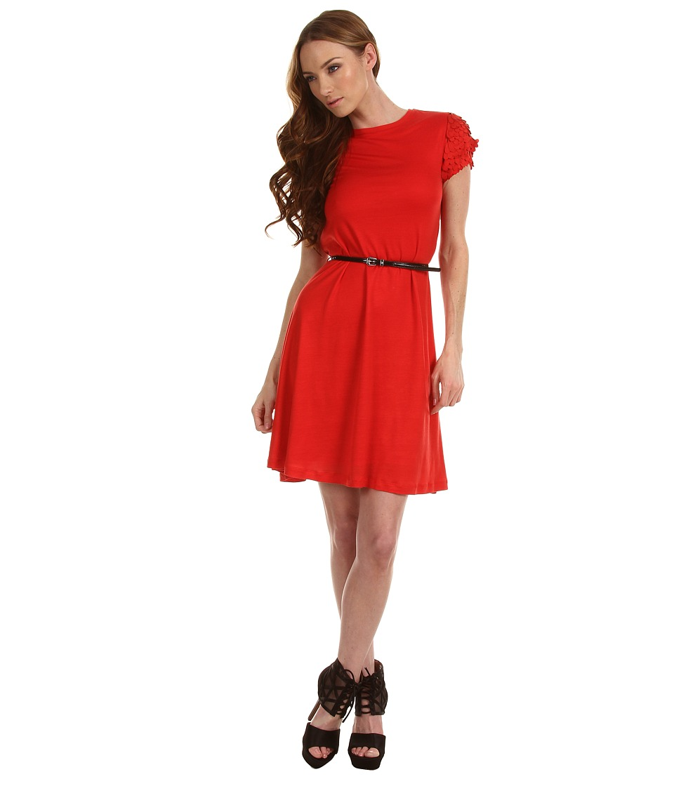 McQ - Laser Cut Dress (Cadmium) Women's Dress