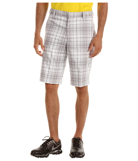 Nike Golf - Nike Golf Plaid Short (White/Night Stadium) Men's Shorts