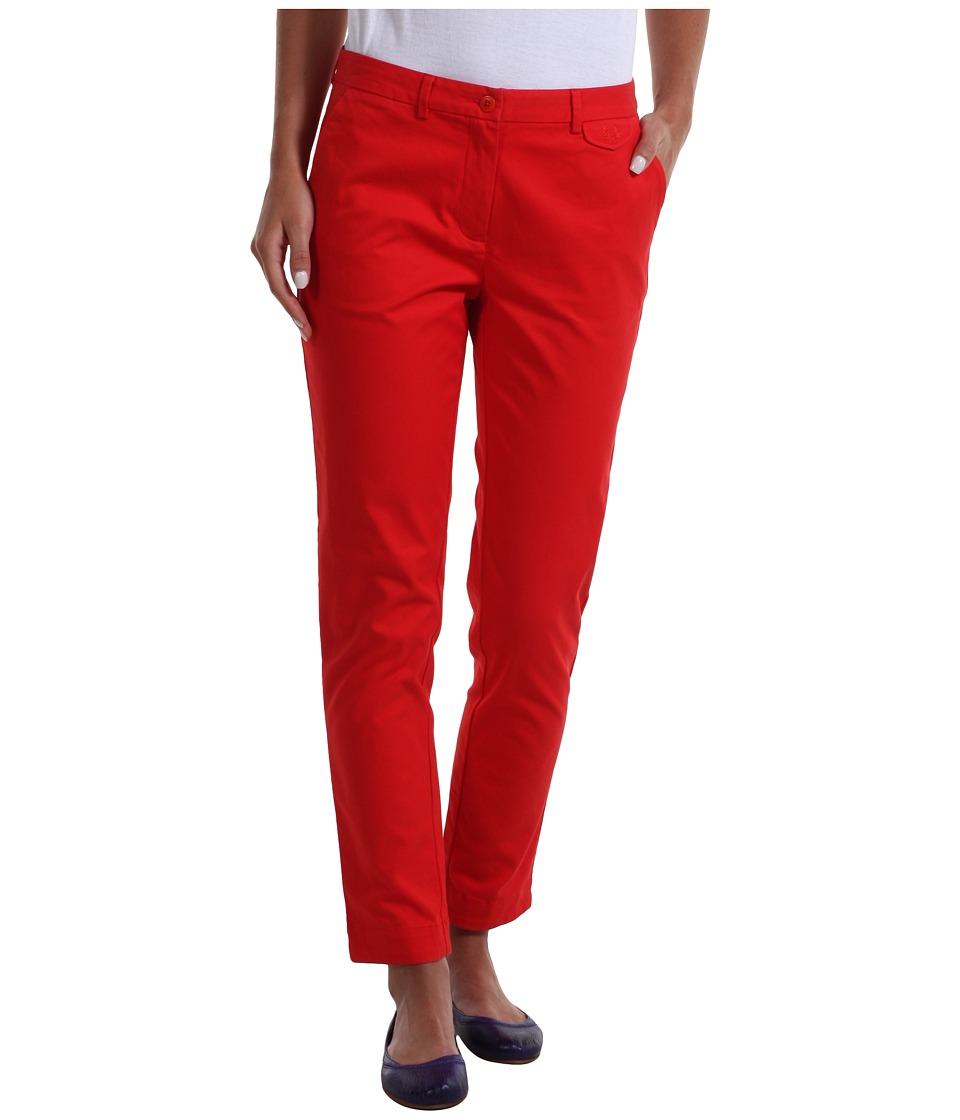 Fred Perry - Slim Cropped Chino (Red) Women's Casual Pants