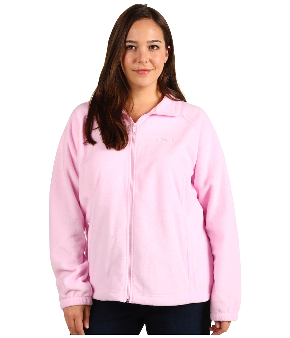 Columbia - Tested Tough In Pink Benton Springs Full Zip - Extended Size (Isla) Women
