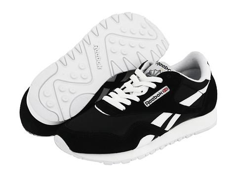 Reebok Lifestyle Classic Nylon W (Black/White) Women's Classic Shoes