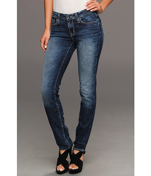 Big Star - Brigitte Mid Rise Slim Straight in Lunar (Lunar) Women's Jeans