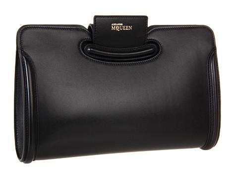 Alexander McQueen - Heroine Clutch (Black) Clutch Handbags