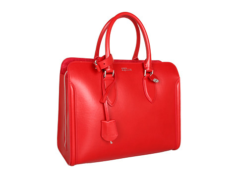 Alexander McQueen - Open Tote Heroine (Shiny Red) Satchel Handbags