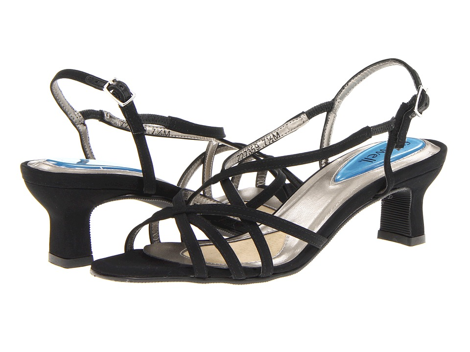 Fitzwell - Lighter Sandal (Black Microtouch Fabric) Women's Sandals