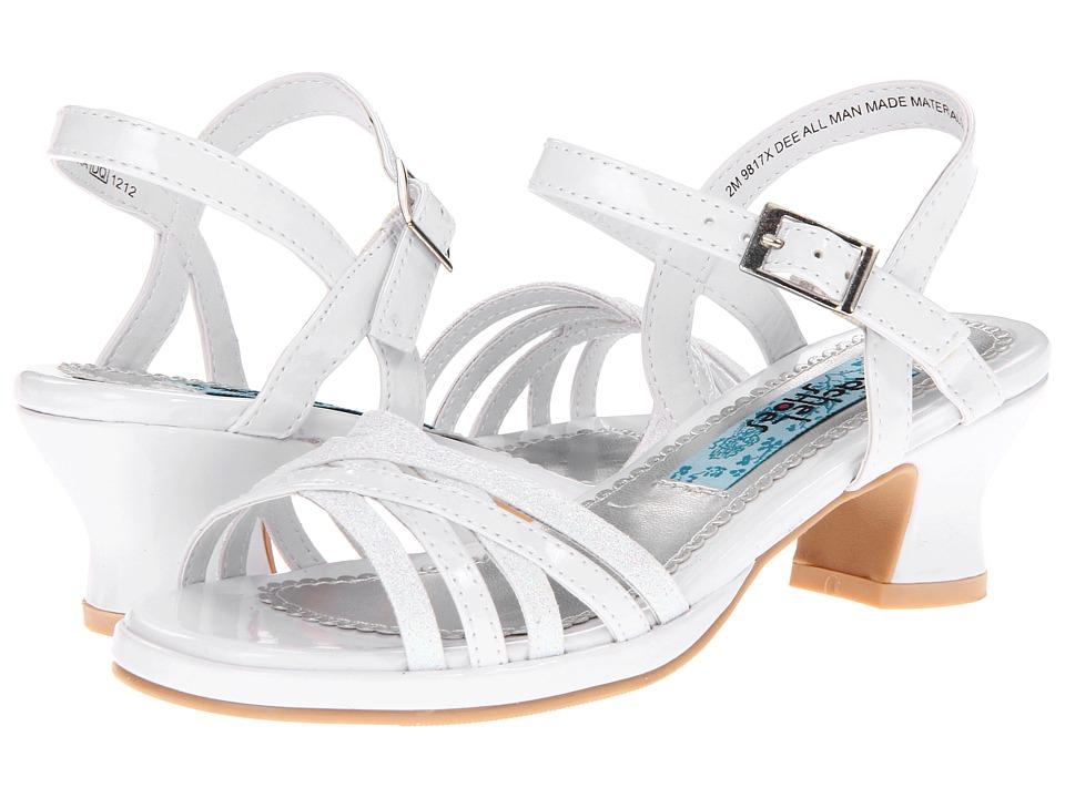Rachel Kids - Dee (Little Kid) (White Patent) Girls Shoes