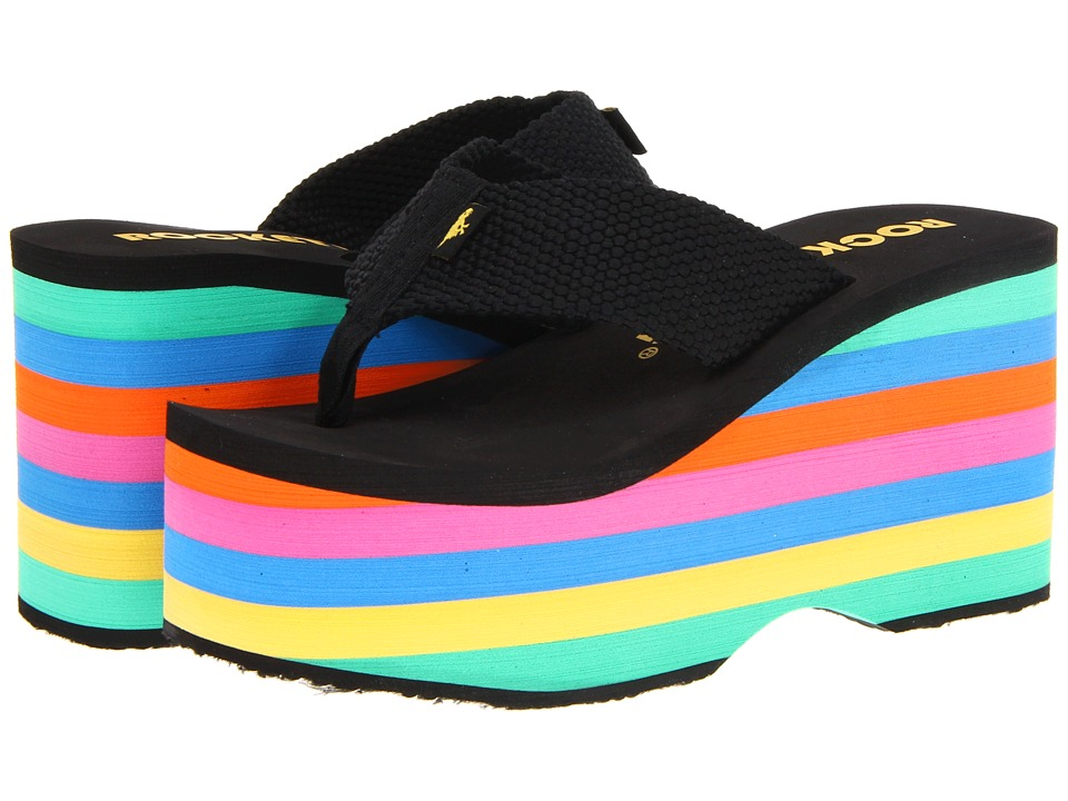 Rocket Dog - Bigtop (Black Webbing/Stripe) Women's Sandals