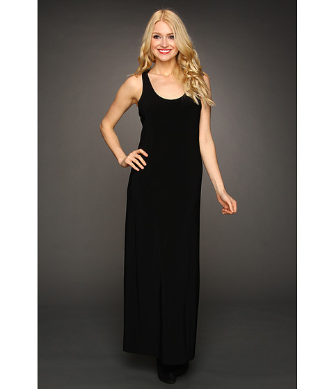KAMALIKULTURE by Norma Kamali - Racer Maxi Gown (Black) Women's Dress