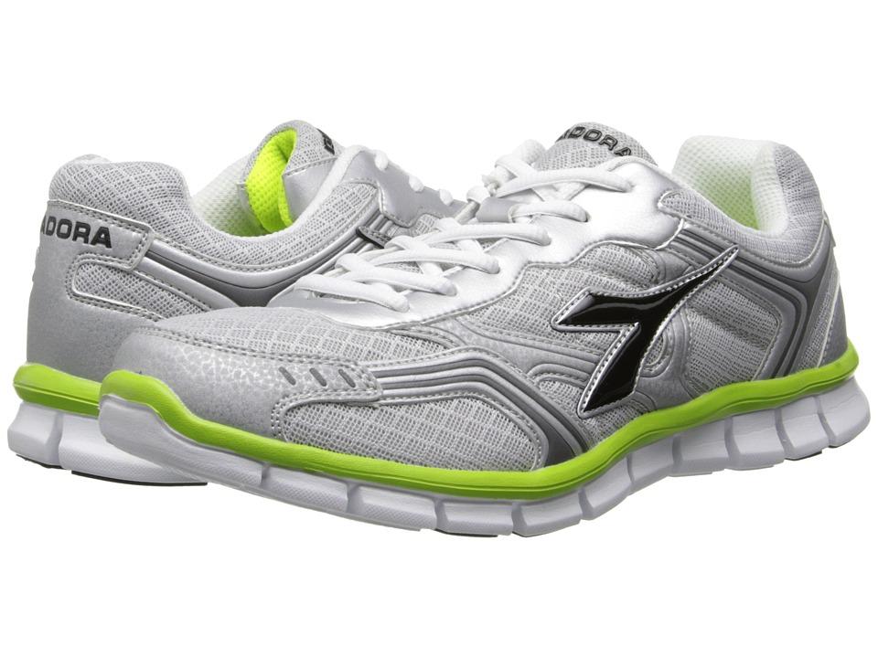 Diadora - Dinamik II (Silver DD/Black/Acid Green) Men's Soccer Shoes
