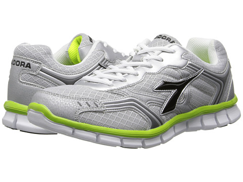 Diadora - Dinamik II (Silver DD/Black/Acid Green) Men