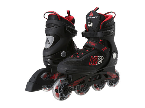 K2 Skates - Kinetic 80 (Black/Red/Silver) Men's Wheeled Shoes