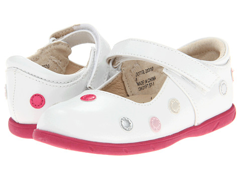 FootMates - Dottie (Infant/Toddler) (White/Multi) Girls Shoes
