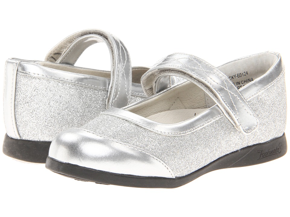 FootMates - Becky 2 (Toddler/Little Kid) (Silver Sparkle) Girl's Shoes