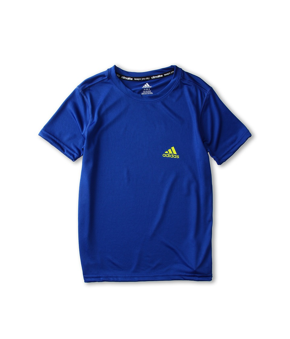 adidas Kids - Climalite S/S Tee (Little Kids/Big Kids) (Collegiate Royal) Boy's Short Sleeve Pullover