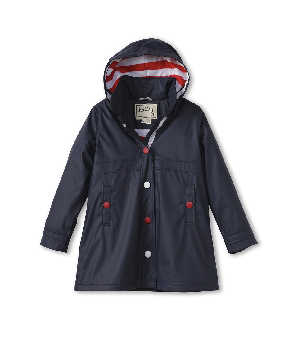 Hatley Kids - Splash Jacket (Toddler/Little Kids/Big Kids) (Classic Navy) Girl