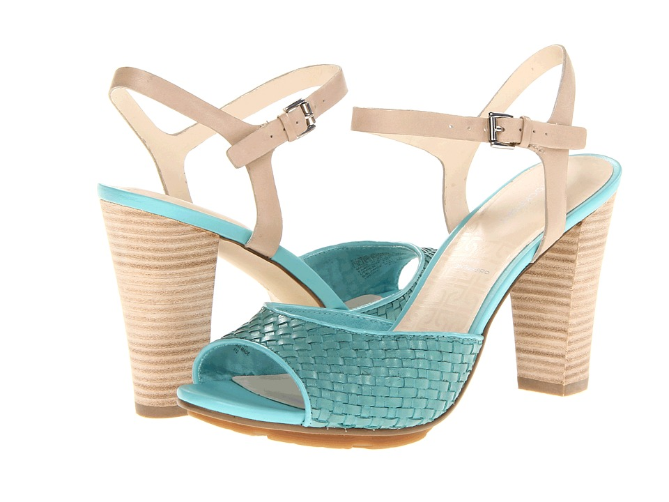 Rockport - Jalicia S Woven Q Strap (Aqua Sea) Women's Toe Open Shoes