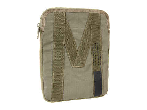 Marc by Marc Jacobs Mesh Standard Supply Tech Tablet Half Zip Case (Fatigue Green) Computer Bags