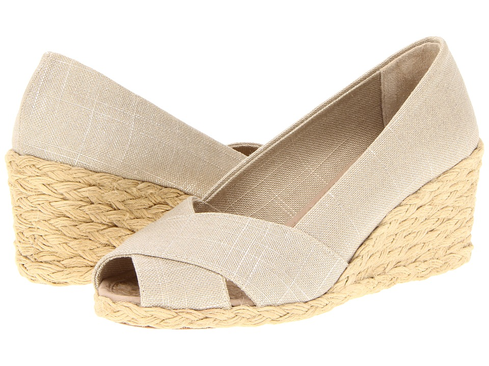 LAUREN by Ralph Lauren - Cecilia (Natural/Silver) Women's Wedge Shoes