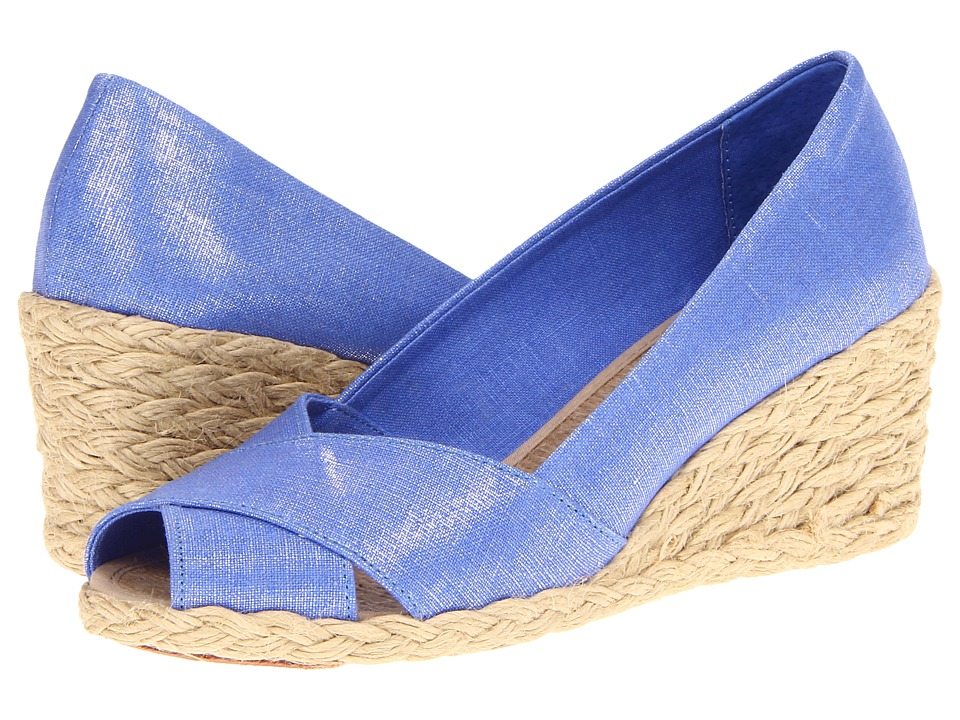 LAUREN by Ralph Lauren - Cecilia (Regatta Blue) Women's Wedge Shoes