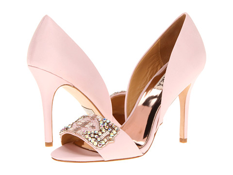 Shop Badgley Mischka online and buy Badgley Mischka Alessandra Pink Shoes - Badgley Mischka - Alessandra (Pink) - Footwear: He'll be seeing stars when he sees you in these gorgeous pumps! ; Easy slip-on wear. ; Sleek satin upper with gorgeous beading at vamp. ; Leather lining. ; Lightly cushioned leather footbed. ; Wrapped heel. ; Leather sole. ; Imported. Measurements: ; Heel Height: 4 in ; Weight: 8 oz ; Product measurements were taken using size 8.5, width M. Please note that measurements may vary by size.