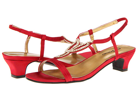 Annie Lizzy (Red Satin) Women's Sandals