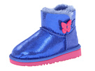 UGG Kids - Mini Bailey Button Lizard (Toddler/Little Kid) (Sapphire Blue) - Footwear