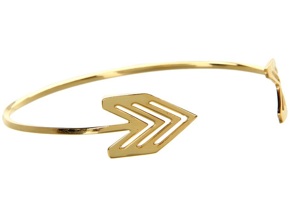 gorjana - Chevron Tribal Cuff (Gold) Bracelet