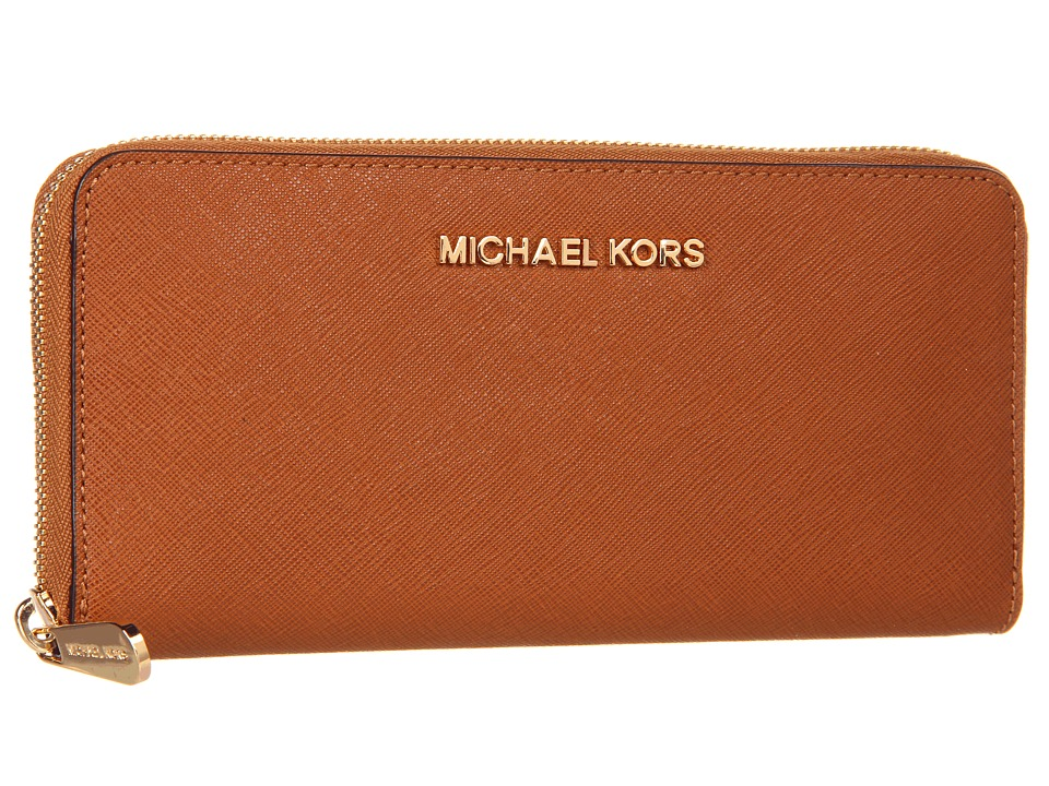 MICHAEL Michael Kors - Jet Set Saffiano Travel ZA Continental (Luggage) Continental Wallet