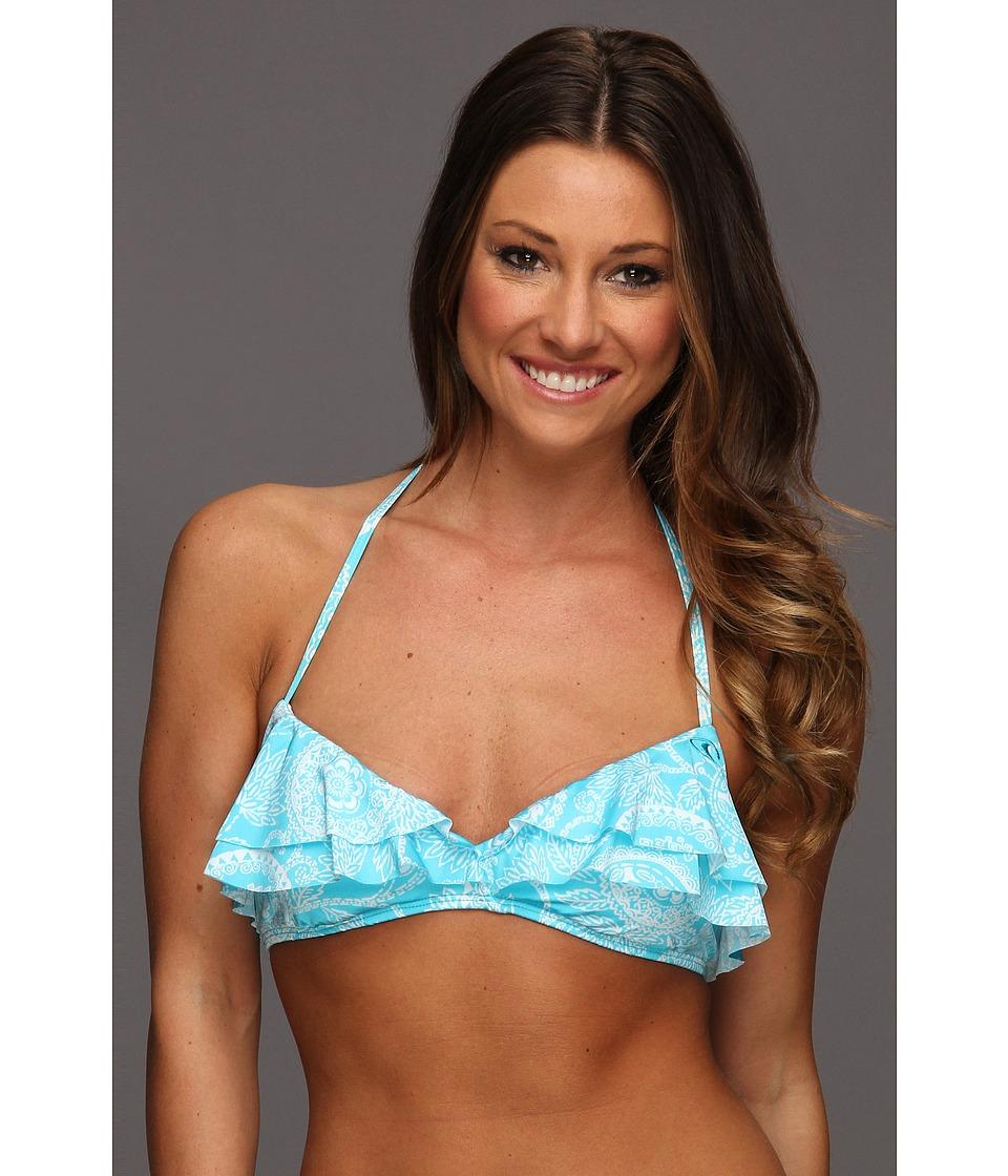 O'Neill - Henna Ruffle Triangle Top (Sky) Women's Swimwear