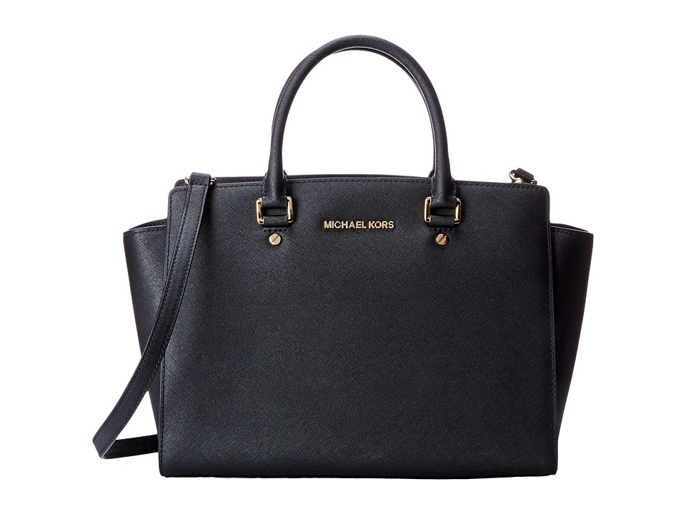 MICHAEL Michael Kors - Selma Large TZ Satchel (Black) Satchel Handbags