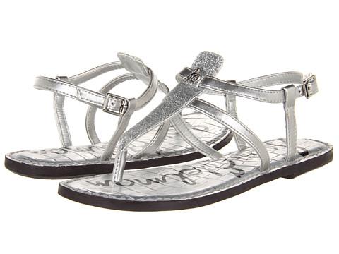 Sam Edelman Kids - Gia (Little Kid/Big Kid) (Silver Glitter/Patent) Girls Shoes