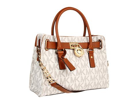MICHAEL Michael Kors - Hamilton Logo EW Satchel (Vanilla) Satchel Handbags