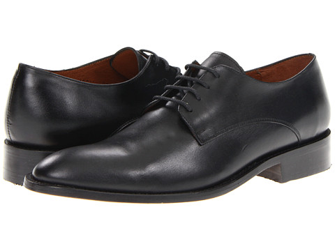 Fitzwell - Alexander Plain Toe (Black Leather) Men's Plain Toe Shoes