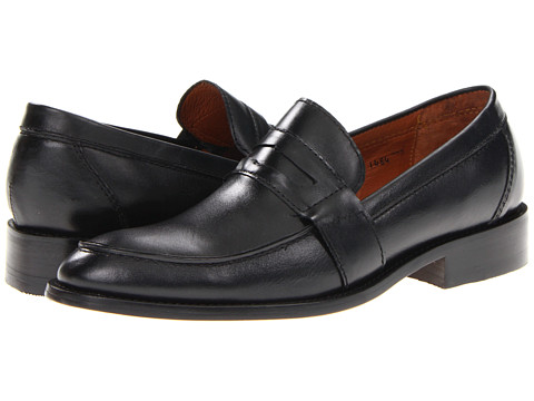 Fitzwell - Jackson Penny (Black Leather) Men's Slip-on Dress Shoes