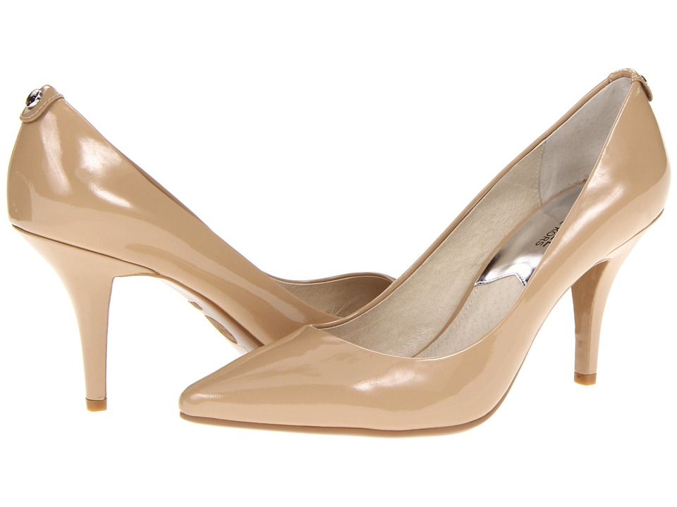 MICHAEL Michael Kors - MK Flex Mid Pump (Nude Patent) High Heels