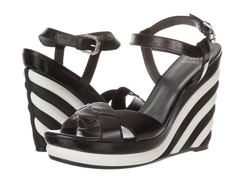 Stuart Weitzman - Attitude (Black Calf) Women's Wedge Shoes