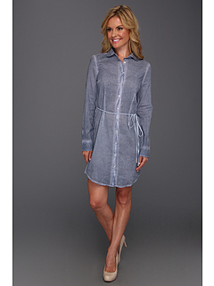 SALE! $39.75 - Save $40 on Calvin Klein Jeans Petite Petite Pigment Spray Shirtdress (Ultra Blue) Apparel - 50.00% OFF $79.50