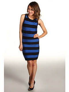 SALE! $109.99 - Save $165 on MICHAEL Michael Kors Stripe Bandage Sleeveless Sweater Dress (Urban Blue) Apparel - 60.00% OFF $275.00