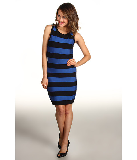 MICHAEL Michael Kors - Stripe Bandage Sleeveless Sweater Dress (Urban Blue) Women's Dress