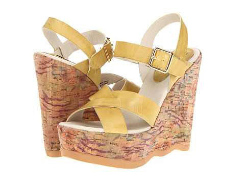 The Cool People - Vickie (Yellow) Women's Wedge Shoes