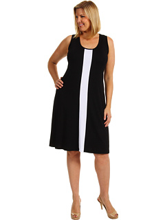SALE! $71.56 - Save $36 on Karen Kane Plus Plus Size Sleeveless Contrast Dress (Black White) Apparel - 33.74% OFF $108.00