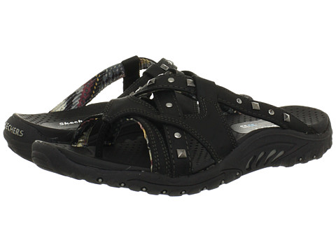 SKECHERS - Reggae - Sound Stage (Black) Women's Sandals