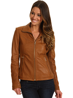 SALE! $249.99 - Save $249 on Calvin Klein Leather Moto Jacket (Cognac) Apparel - 49.90% OFF $499.00