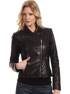 SALE! $99.99 - Save $399 on Calvin Klein Leather Moto Jacket (Black) Apparel - 79.96% OFF $499.00