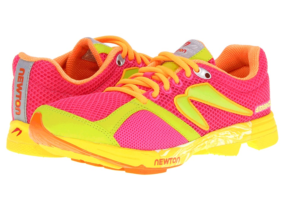 Newton Running - Distance U (Pink/Lime) Women's Running Shoes