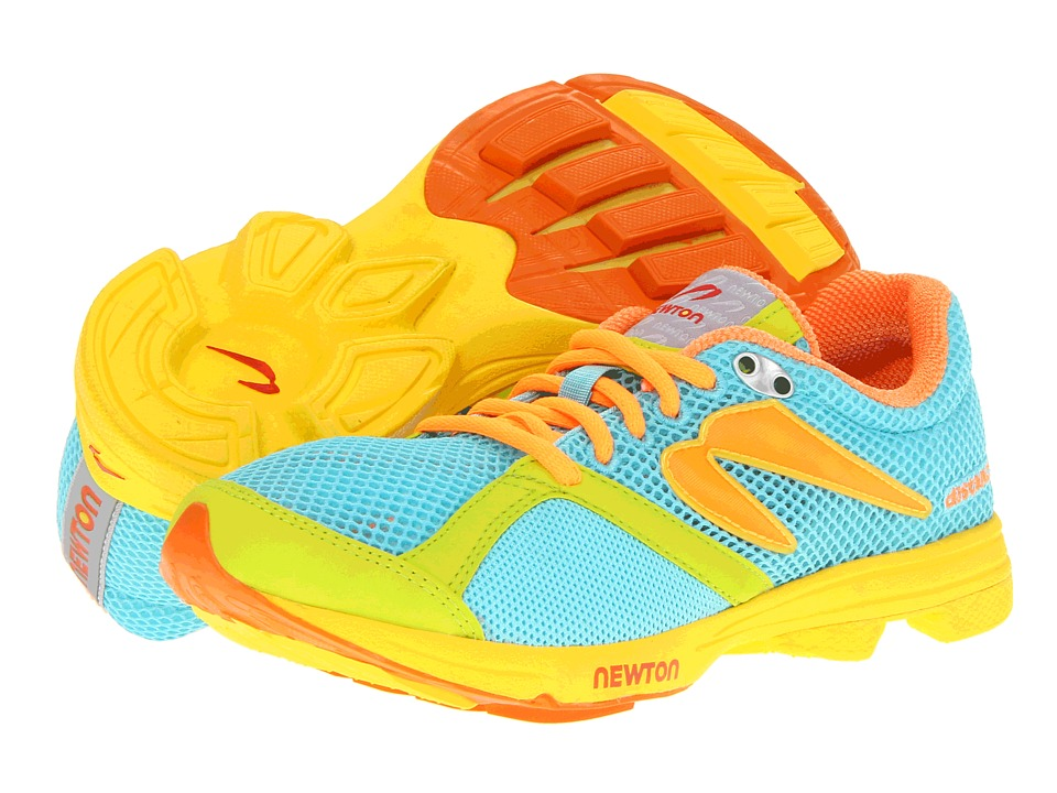 Newton Running - Distance (Teal/Lime) Women's Running Shoes