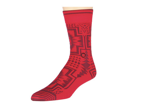 Stance - Clovis (Red) Crew Cut Socks Shoes