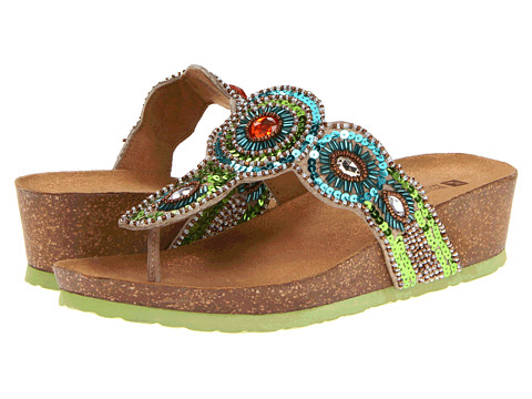 White Mountain - Blast (Green Multi) Women's Sandals