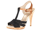 Juicy Couture - Amali (Black Woven Raffia) - Footwear